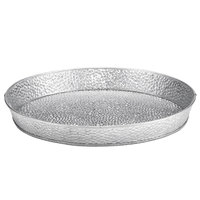 Tablecraft GP10 10 1/2 inch Galvanized Steel Round Platter - 12/Pack