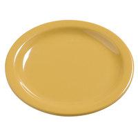 Carlisle 4385622 Honey Yellow Dayton 5 5/8 inch Melamine Bread & Butter Plate - 48/Case