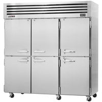 Turbo Air PRO-77-6F 78 inch Premiere Pro Series Three Section Solid Half Door Reach in Freezer - 76 Cu. Ft.