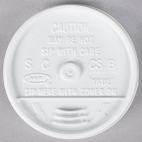 Dart 16UL White Plastic Sip Thru Lid - 1000/Case