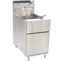 Dean SR62G Super Runner Liquid Propane Floor Fryer 60-75 lb.