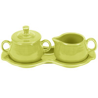 Homer Laughlin 821332 Fiesta Lemongrass Sugar and Cream Tray Set - 4/Case