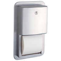 Bobrick B-4388 ConturaSeries Recessed Multi Roll Toilet Tissue Dispenser with Satin Finish
