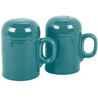 Homer Laughlin 756107 Fiesta Turquoise Rangetop Salt and Pepper Shaker Set - 4/Case