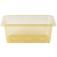 Cambro 35CLRHP150 H-Pan 1/3 Size Amber High Heat Colander Pan - 5 inch Deep