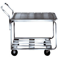 Winholt 9000-STK4 Two Shelf Chrome Plated Steel Stocking Cart - 44 inch x 18 1/2 inch