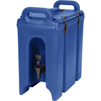Cambro 250LCD186 Camtainer 2.5 Gallon Navy Blue Insulated Beverage Dispenser