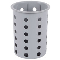 Steril-Sil RP-25-GRAY Gray Poly Straight Sided Flexible Silverware Cylinder