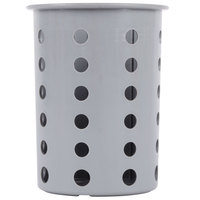 Steril-Sil RP-25-GRAY Gray Perforated Plastic Flatware Cylinder