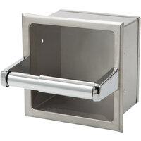 Bobrick B-6637 Recessed Toilet Tissue Dispenser with Storage for Extra Roll with Satin Finish