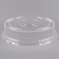 "Visions 18"" Clear PET Plastic Round Catering Tray High Dome Lid - 5/Pack"
