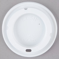 Dinex DX30008775 Turnbury White Disposable EZ Sip Lid for Dinex DX3000 Turnbury 8 oz. Insulated Pedestal Based Mug and DX3200 Turnbury 5 oz. Insulated Pedestal Based Bowl - 1000/Case