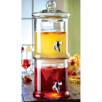 The Jay Companies 210988-GB Double 1 Gallon Norfolk Tiered Glass Beverage Dispenser