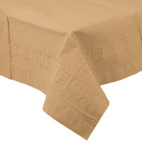 Creative Converting 710203B 54 inch x 108 inch Glittering Gold Tissue / Poly Table Cover - 24/Case