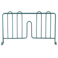 Regency 14 inch Green Epoxy Wire Shelf Divider for Wire Shelving - 14 inch x 8 inch