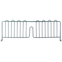 regency 24 inch green epoxy wire shelf divider for wire shelving 24 inch x 8