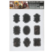 American Metalcraft CSM18 2 1/4 inch x 1 3/4 inch Ornate Vinyl Chalkboard Labels   - 18/Pack
