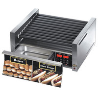 Star Grill Max 30SCBDE 30 Hot Dog Roller Grill with Bun Drawer, Electronic Controls and Duratec Non-Stick Rollers