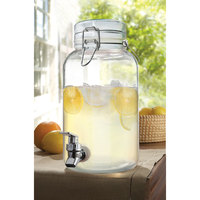 1 Gallon Clear Mason Glass Beverage Dispenser