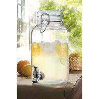 1 Gallon Clear Mason Glass Beverage Dispenser