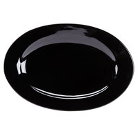 CAC FES-51-BK Festiware 15 inch X 10 1/2 inch Black Platter - 12/Case