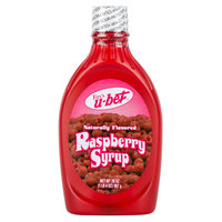Fox's U-Bet Raspberry Syrup 20 oz. Squeeze Bottle