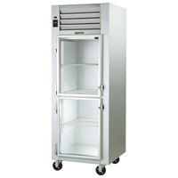 Traulsen G11001 Glass Half Door Reach In Refrigerator - Left Hinged Doors