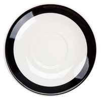 CAC R-2-BLK Rainbow 6 inch Black Saucer - 36/Case