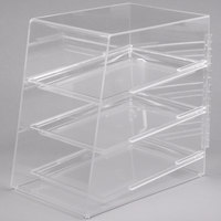 Cal-Mil 260 Classic Three Tier Acrylic Display Case with Rear Door - 11 1/2 inch x 17 inch x 17 inch