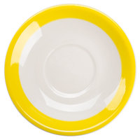 CAC R-2-Y Rainbow 6 inch Yellow Saucer - 36/Case
