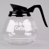 Grindmaster 98005 64 oz. Glass Coffee Decanter with Black Handle   - 3/Case