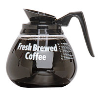 Grindmaster 98000 64 oz. Glass Coffee Decanter with Black Handle - 24/Case