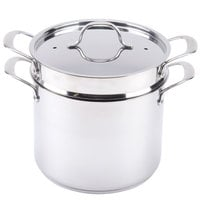 8 Qt. Self-Draining Stainless Steel Pasta Cooker / Steamer