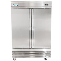 Avantco CFD-2FF 54 inch Two Section Solid Door Reach in Freezer