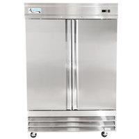 Avantco CFD-2FF 54 inch Two Section Solid Door Reach in Freezer - 46.5 cu. ft.