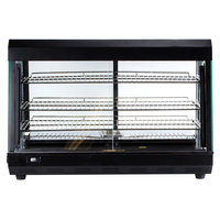 Avantco HDC-26 26 inch Self Service 3 Shelf Countertop Heated Display Warmer with Sliding Doors - 110V, 1500W