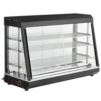 Avantco HDC-48 48 inch Self Service 3 Shelf Countertop Heated Display Case with Sliding Doors - 110V, 1500W