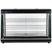 Avantco HDC-48 48 inch Self Service 3 Shelf Countertop Heated Display Warmer with Sliding Doors - 110V, 1500W