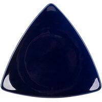 CAC TRG-9-BLU Festiware 8 1/2 inch Blue Flat Triangle Plate - 24 / Case
