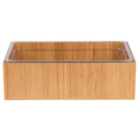Cal-Mil 475-10-60 Bamboo Ice Housing with Clear Pan - 12 inch x 10 inch x 6 1/2 inch