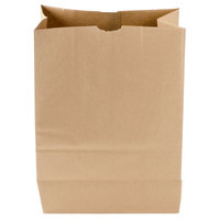 Duro 1/6 Brown Paper Barrel Sack Bag   - 400/Bundle