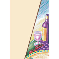 8 1/2 inch x 11 inch Menu Paper - Wine Themed Bottle Design Cover - 100/Pack