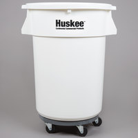 Continental 27444IBKIT 44 Gallon White Ingredient Bin / Trash Can, Lid, and Dolly Kit