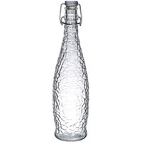 Libbey 13150120 34 oz. Glacier Oil / Vinegar / Water Bottle with Clear Wire Bail Lid 6 / Case