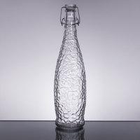 Libbey 13150120 34 oz. Glacier Oil / Vinegar / Water Bottle with Clear Wire Bail Lid - 6/Case