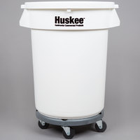 Continental 27432IBKIT 32 Gallon White Ingredient Bin / Trash Can, Lid, and Dolly Kit
