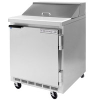Beverage-Air SPE27HC-12M-B Elite Series 27 inch 1 Door Mega Top Refrigerated Sandwich Prep Table
