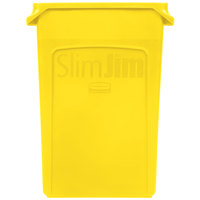 Rubbermaid 1956188 23 Gallon Slim Jim Yellow Trash Can