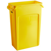 Rubbermaid 1956188 92 Qt. / 23 Gallon Slim Jim Yellow Trash Can