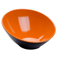 GET B-792-OR/BK Brasilia 24 oz. Orange and Black Slanted Melamine Bowl
